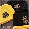 E. DFC Beanie Hat with Crest