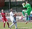 Rovers keeper Graham Bowman leaps to foil Mark Stewart 36
