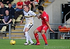 Mark Stewart gets some attention from Annan defender