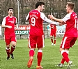 Calum Gallagher celebrates with Ross Forbes and Bobby Barr 21