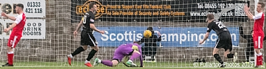 Ex-Son Kevin Smith scores East Fife's second goal 39