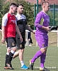 Ross Forbes and goalkeeping coach Jamie Ewings follow penalty saves hero Grant Adam off the pitch 52