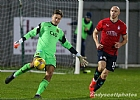 Keeper Dabrowski clears from Conor Sammon 15